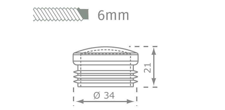 6mm csavar rajz és méret