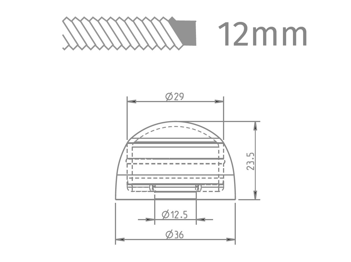 12mm csavar rajz és méret