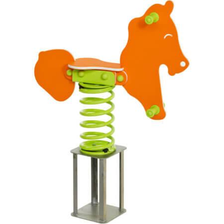 narancssárga rugós ló