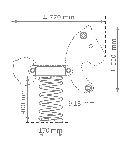rugós motor rajz és méret