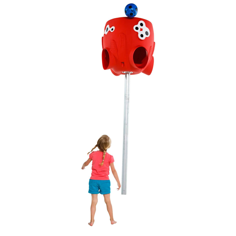polip labdafogó kislány játszás
