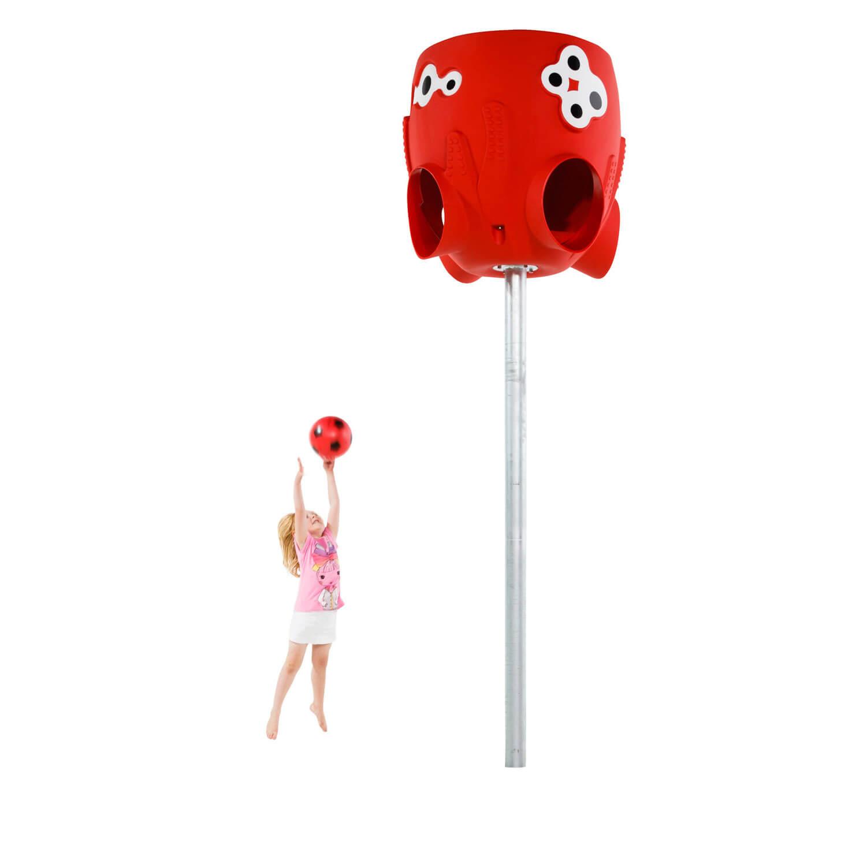 polip labdafogó és kislány