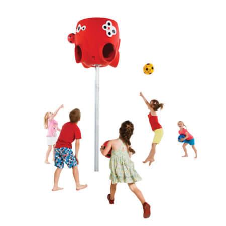polip labdafogó és gyerekek