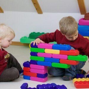 kreatív építőkocka gyerekekkel