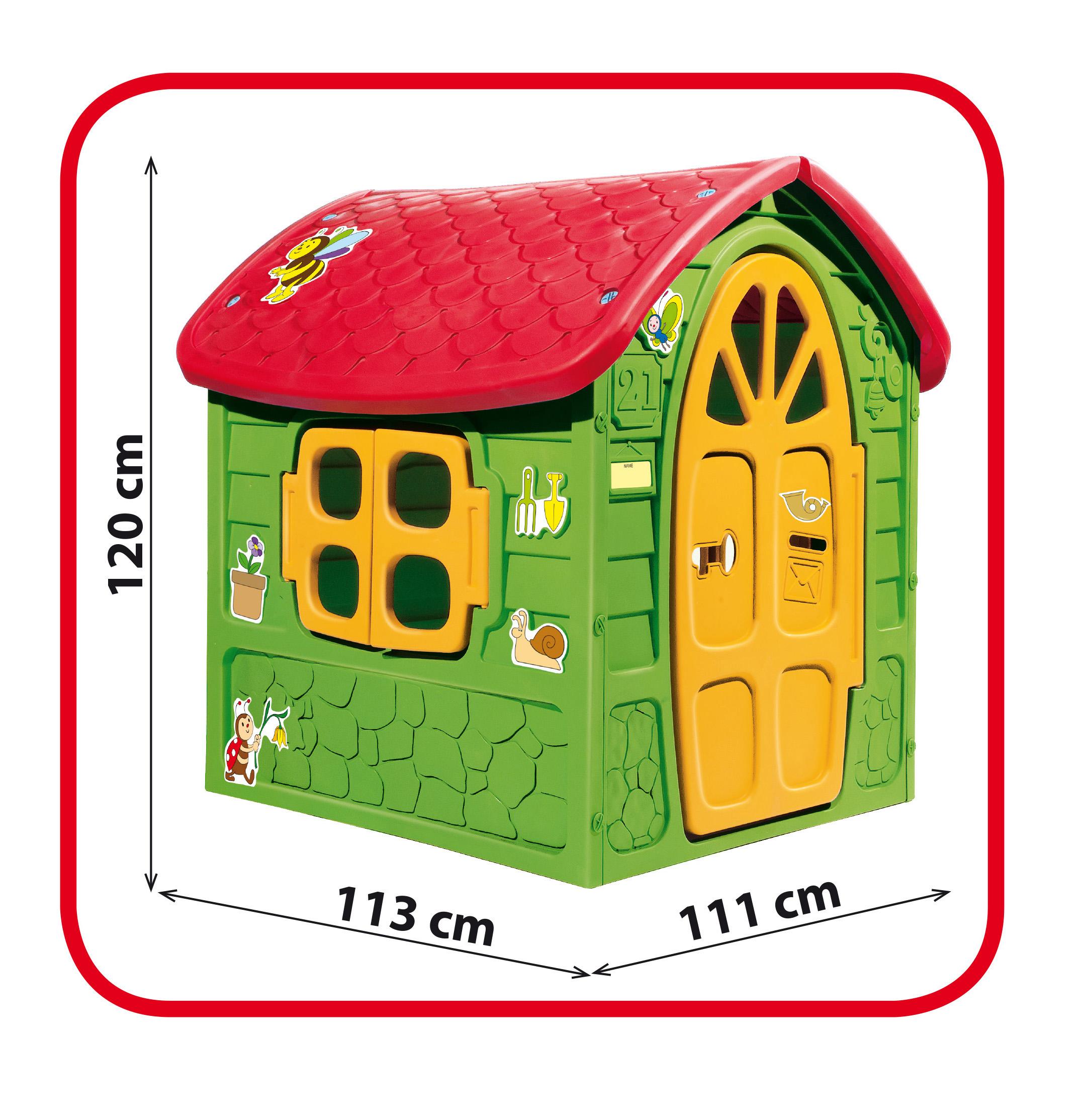 zöld műanyag méhecskés játékház méret