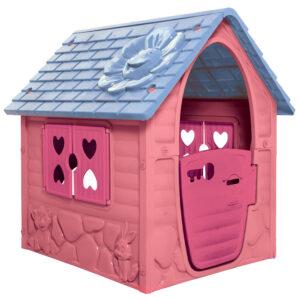 rózsaszín műanyag virágos játékház