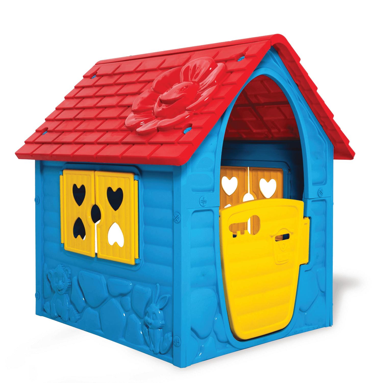 kék műanyag játékház