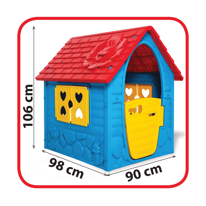 kék műanyag játékház méret